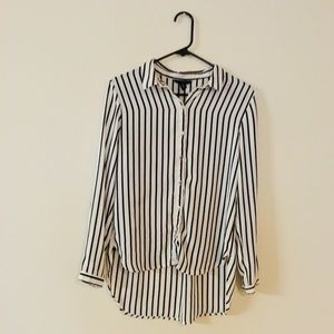 H&M silky sheer studio shirt